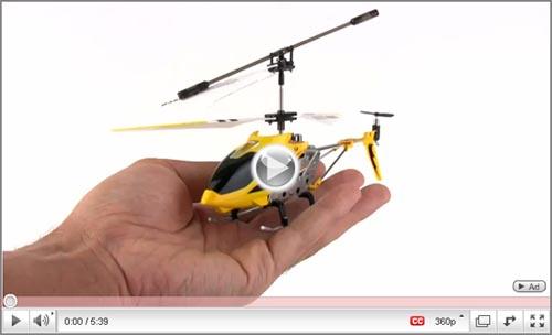 film, prezentacja helikoptera Syma S107G z żyroskopem